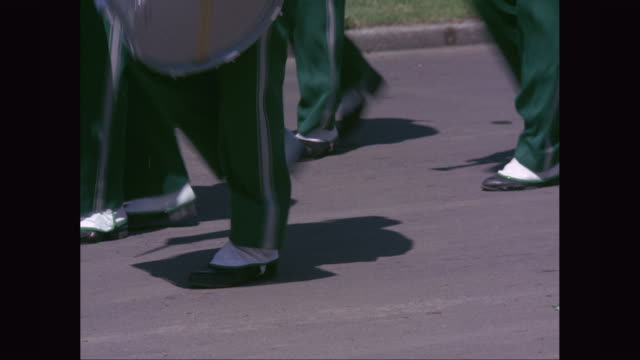 ms marching band feet and legs marching / united states - marching band stock videos and b-roll footage