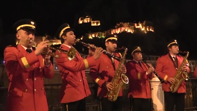 """marching band gave a street concert in turkey's northern amasya province in a ramadan tradition dating back for 156 years on may 6, 2020. """"we are... - romance stock videos & royalty-free footage"""
