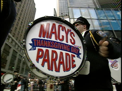 marching band on thanksgiving day parade new york city new york usa - 2004 stock videos & royalty-free footage