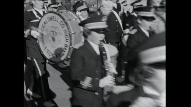 marching band parades through street - 1961 stock videos & royalty-free footage