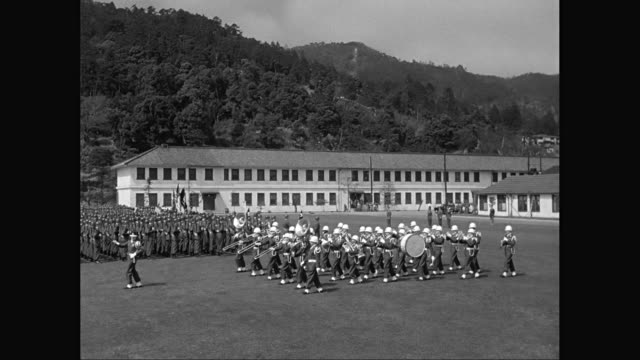 ws marching band performing in military parade / united states - marching band stock videos and b-roll footage