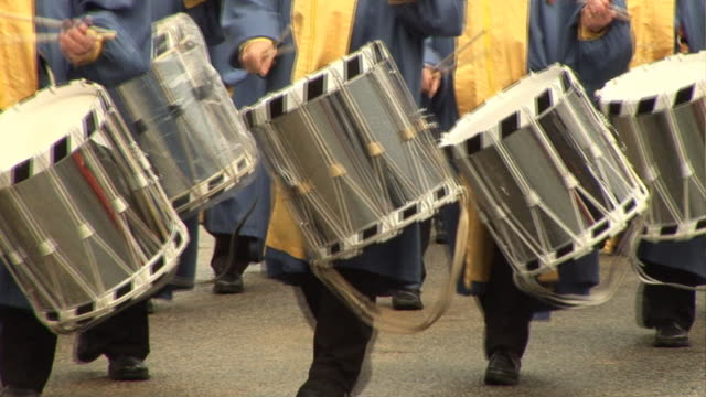 Marching Band with drums at parade