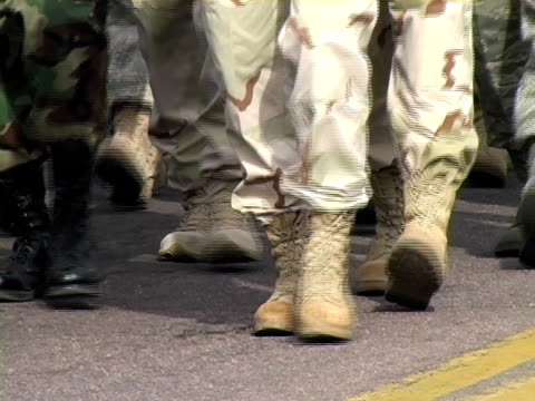 marching boots - armistice day stock videos and b-roll footage