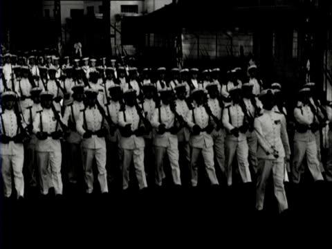 vídeos y material grabado en eventos de stock de marching sailors - java