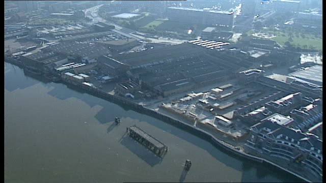aftermath / aerials england london river thames general aerials of scene westland heliport airviews - marchioness stock videos and b-roll footage