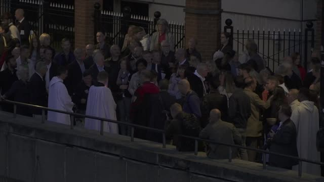 30th anniversary overnight vigil england london river thames crowd of people and clergy at vigil / river / vigil / boats along river - marchioness stock videos and b-roll footage