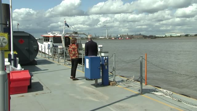 river safety warning on 30th anniversary england london gravesend ext bob baker setup shots with reporter / interview sot - marchioness stock videos and b-roll footage