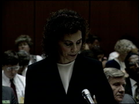 Marcia Clark at the OJ Simpson Preliminary Hearing at Criminal Courthouse in Los Angeles California on June 30 1994