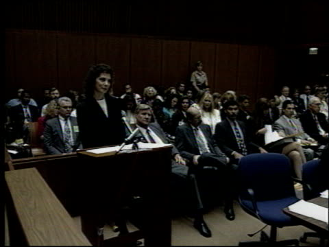 marcia clark at the oj simpson preliminary hearing at criminal courthouse in los angeles california on june 30 1994 - criminal stock videos and b-roll footage