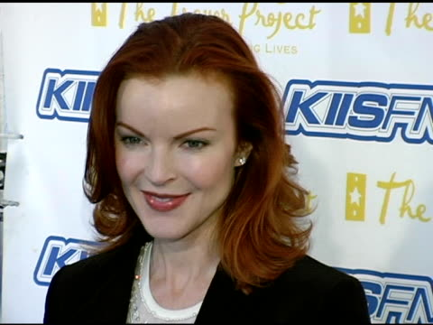 marcia cross at the trevor project's 'cracked xmas 7' honoring debra messing and megan mullally at the wiltern theater in los angeles california on... - debra messing stock videos and b-roll footage