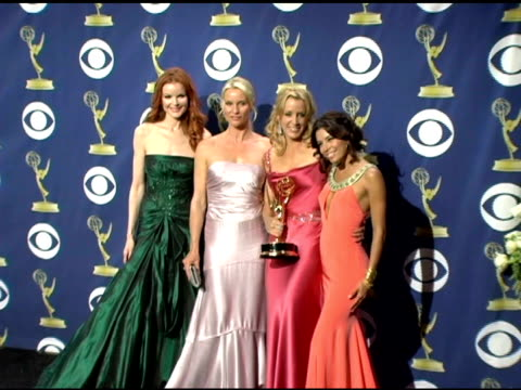 Marcia Cross Nicollette Sheridan Felicity Huffman and Eva Longoria at the 2005 Emmy Awards press room at the Shrine Auditorium in Los Angeles...