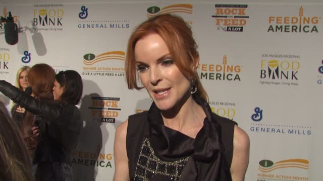 Marcia Cross on being a part of the night what performance she's most looking forward to at the 'Rock A Little Feed A Lot' Benefit Concert at Los...