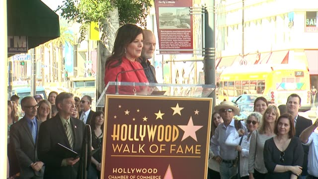 SPEECH Marcia Gay Harden at Ed Harris Honored With Star on the Hollywood Walk of Fame in Hollywood CA on