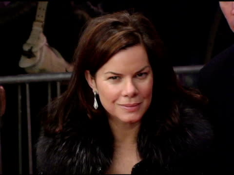 marcia gay harden at the 'three burials of melquiades estrada' new york premiere at the paris theater in new york new york on december 12 2005 - the three burials of melquiades estrada stock videos and b-roll footage
