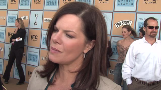 marcia gay harden on what constitutes independent films these days and on being supportive of film project that have fewer big studio constraints at... - ifp independent spirit awards stock videos and b-roll footage