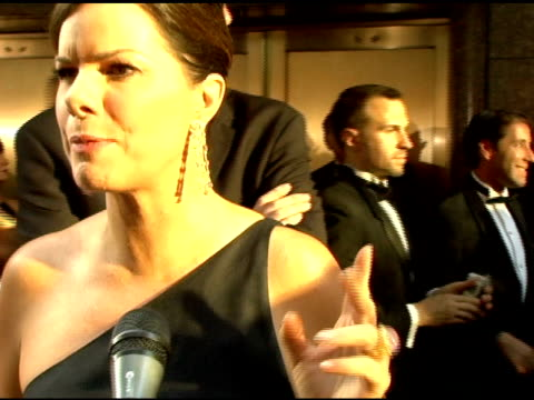 marcia gay harden on who she wants to see at the 60th annual tony awards at radio city music hall in new york new york on june 11 2006 - radio city music hall stock videos & royalty-free footage