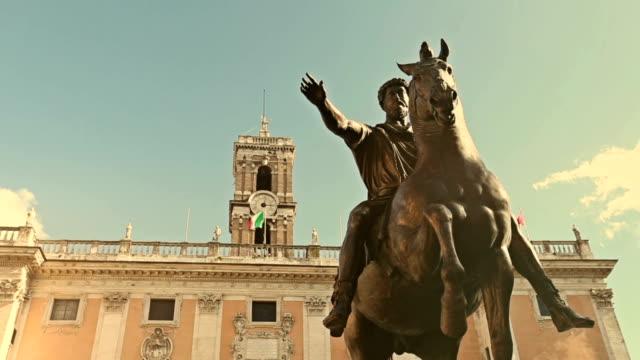 Marco Aurelio Equestrian Statue in Rome