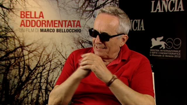 marco bellocchio on his views on euthanasia at bella addormentata interviews 69th venice films festival on september 06 2012 in venice italy - euthanasia stock videos & royalty-free footage
