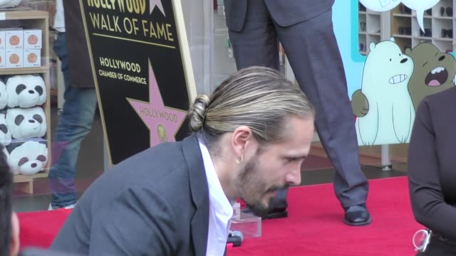 Marco Perego attends Zoe Saldana's Star Ceremony on the Hollywood Walk of Fame in Hollywood in Celebrity Sightings in Los Angeles