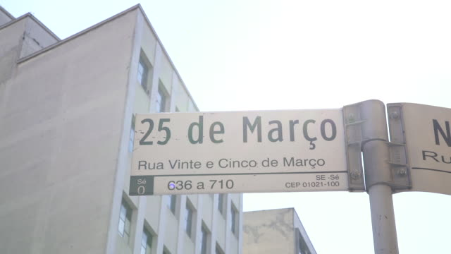 marco plate 25 in sao paulo - centro comercial stock videos & royalty-free footage