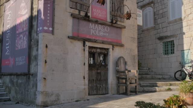 vídeos y material grabado en eventos de stock de marco polo museum, korcula old town, korcula, dalmatia, croatia, europe - cultura croata