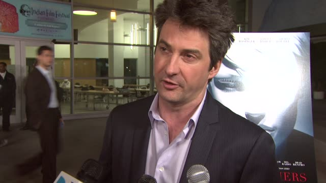 vídeos y material grabado en eventos de stock de marco weber producer on the genesis of the film the cast shooting in south america at the 'the informers' premiere at los angeles ca - the informers