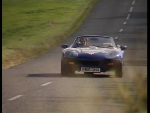 marcos gts 1997 - blue convertible stock videos & royalty-free footage