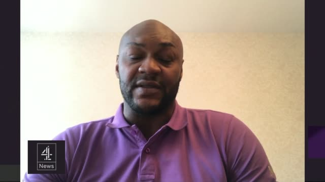 Marcus Gayle interview on racism ENGLAND London GIR INT Marcus Gayle 2WAY interview via internet SOT