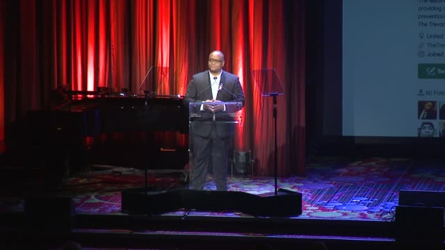 speech marcus mabry speaks at the trevor project's trevorlive new york at marriott marquis hotel on june 13 2016 in new york city - marriott marquis new york stock videos & royalty-free footage
