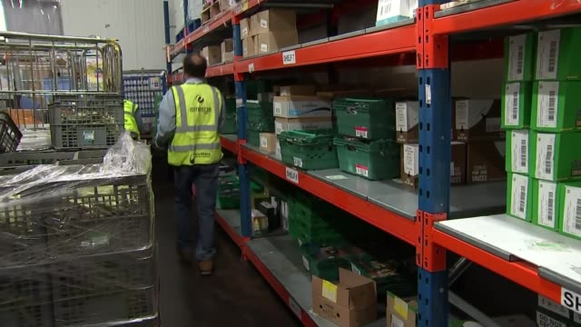 marcus rashford forms child food poverty task group: foodshare warehouse; england: greater manchester: int various of people working in the warehouse... - food stock videos & royalty-free footage