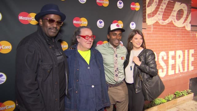 clean marcus samuelsson's streetbird rotisserie opening party featuring qkr with masterpass at tbd on april 16 2015 in new york city - event capsule stock videos & royalty-free footage