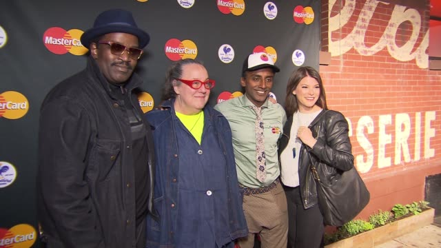 chyron marcus samuelsson's streetbird rotisserie opening party featuring qkr with masterpass at tbd on april 16 2015 in new york city - event capsule stock videos & royalty-free footage