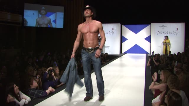 marcus schenkenberg at the 9th annual dressed to kilt charity fashion show at new york ny. - kilt stock videos & royalty-free footage