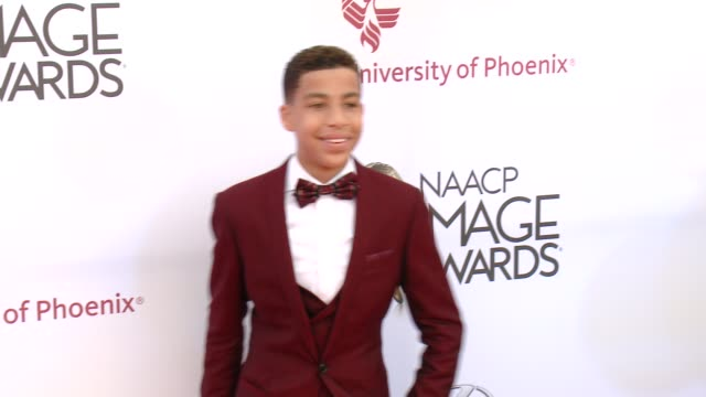stockvideo's en b-roll-footage met marcus scribner at the 46th annual naacp image awards - arrivals at pasadena civic auditorium on february 06, 2015 in pasadena, california. - pasadena civic auditorium