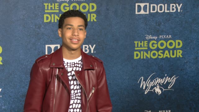 marcus scribner at the good dinosaur world premiere at the el capitan theatre on november 17 2015 in hollywood california - el capitan theatre stock videos and b-roll footage