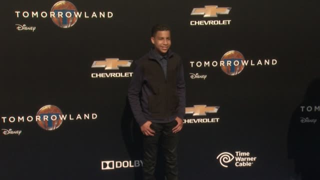 marcus scribner at the tomorrowland los angeles premiere at amc downtown disney 12 theater on may 09 2015 in anaheim california - anaheim california stock videos and b-roll footage