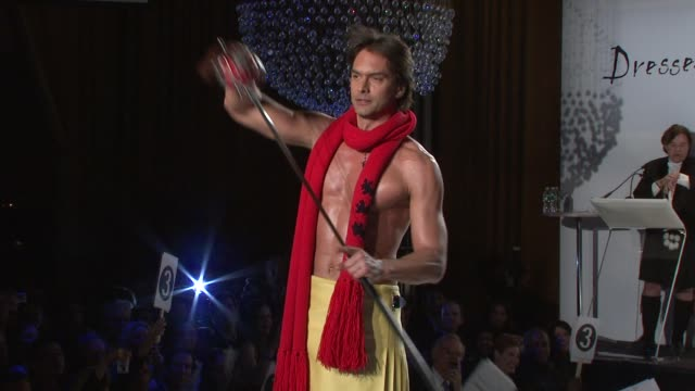 marcus shenkenberg at the 7th annual 'dressed to kilt' charity fashion show at new york ny - dressed to kilt stock videos & royalty-free footage