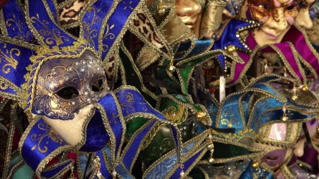 mardi gras / carnival masks for sale in new orleans, louisiana - new orleans mardi gras stock videos and b-roll footage