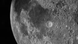 Mare Fecunditatis or Sea of Fertility in the lunar surface of the moon
