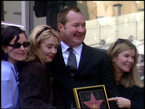 mare winningham at the dediction of randy quaid's walk of fame star at the hollywood walk of fame in hollywood, california on october 7, 2003. - randy quaid stock videos & royalty-free footage