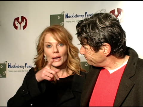 marg helgenberger and alan rosenberg on their support of the huckleberry fund at the children's hospital los angeles' huckleberry fund benefit and... - marg helgenberger stock videos & royalty-free footage