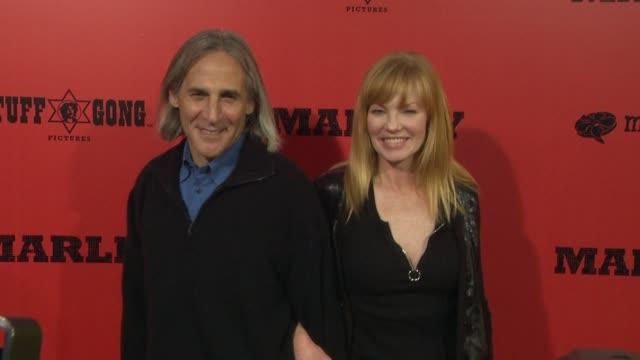 marg helgenberger at marley los angeles premiere on 4/17/12 in hollywood, ca. - marg helgenberger stock videos & royalty-free footage