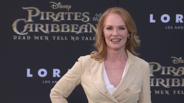 """marg helgenberger at """"pirates of the caribbean: dead men tell no tales"""" premiere in los angeles, ca 5/18/17 - marg helgenberger stock videos & royalty-free footage"""