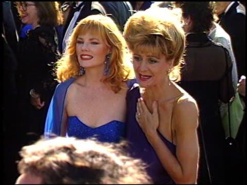 marg helgenberger at the 1989 emmy awards outside at the pasadena civic auditorium in pasadena california on september 17 1989 - pasadena civic auditorium stock videos & royalty-free footage