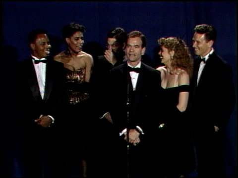 marg helgenberger at the 1989 people's choice awards at disney studios in burbank, california on march 12, 1989. - marg helgenberger stock videos & royalty-free footage