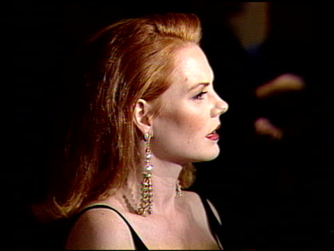 marg helgenberger at the 1991 golden globe awards at the beverly hilton in beverly hills, california on january 19, 1991. - marg helgenberger stock videos & royalty-free footage