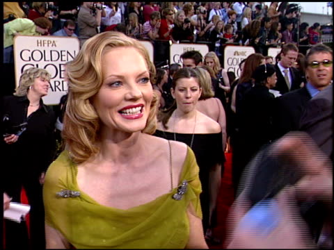 marg helgenberger at the 2003 golden globe awards at the beverly hilton in beverly hills, california on january 19, 2003. - marg helgenberger stock videos & royalty-free footage