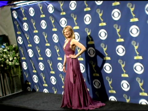marg helgenberger at the 2005 emmy awards press room at the shrine auditorium in los angeles, california on september 19, 2005. - marg helgenberger stock videos & royalty-free footage