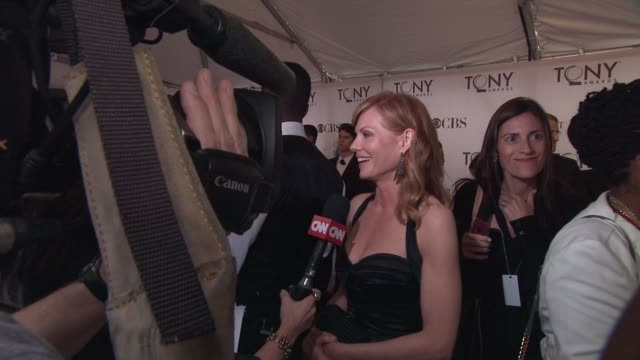 marg helgenberger at the 65th annual tony awards- red carpet & media room at new york ny. - marg helgenberger stock videos & royalty-free footage