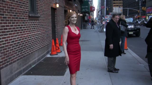 marg helgenberger at the 'late show with david letterman' studio in new york on 1/18/2011 - marg helgenberger stock videos & royalty-free footage